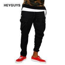 HEYGUYS Pants comfortable Casual Sweatpants Solid Hip Hop high street Trousers Pants Men Joggers oversize brand high quality
