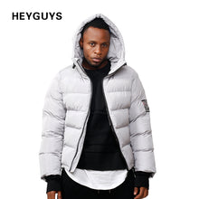 HEYGUYS New Men   Coat Heavy-weight Long Length Sleeve Pocket Solid Color Regular Fit thick warm winter