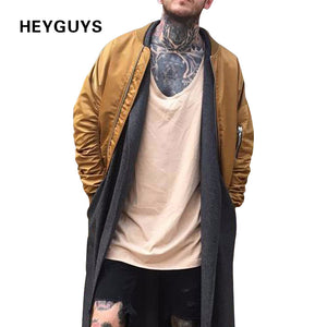 HEYGUYS 2018 warrm high  Europe street kaiki Jacket Hip Hop Suit Pullover Winter Jacket Men Coat fashion men  Casual  jacekts