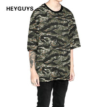 2018 HEYGUYS Fashion Bandanna print oversize style hiphop streetwear fitness t shirt men brand  t-shirts hot selling top