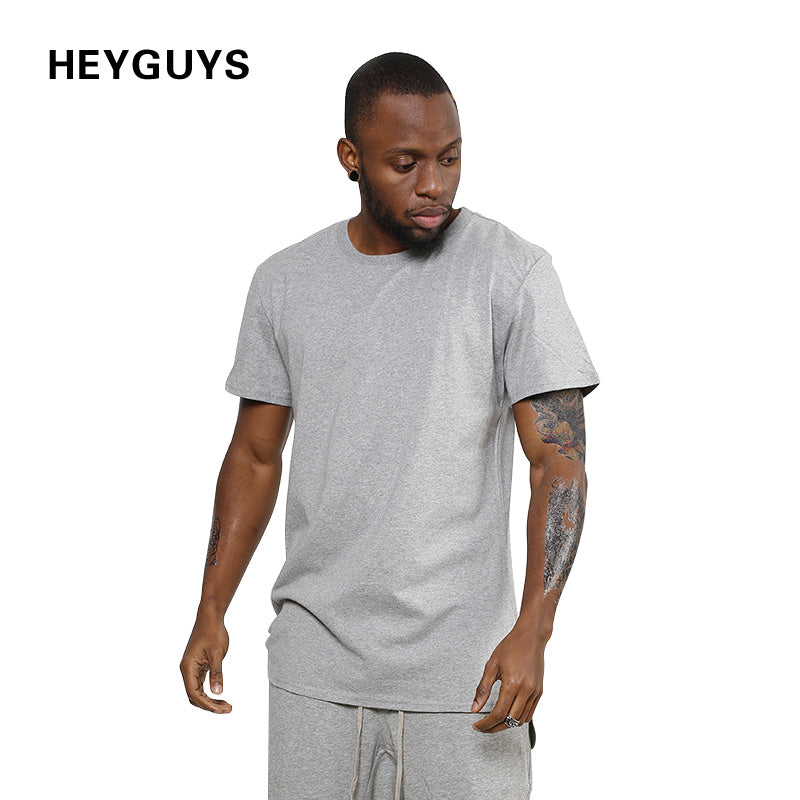 2018 HEYGUYS design fashion hip hop plain plus short sleeve T shirt Tshirts mens brand clothing  summer men t-shirt
