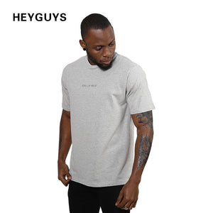 2018 HEYGUYS design fashion hip hop print short sleeve T shirt men T-shirts brand clothing summer men Sandy beach brand  tee