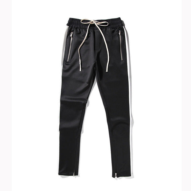 HEYGUYS 2018 NEW fashion Fitness pants Men Casual Trousers Fashion Fitted zipper street wear hip hop straight man new pants