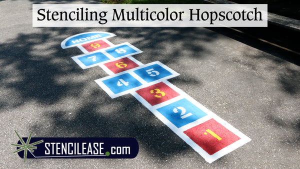 How to Stencil a Multicolor Hopscotch Game