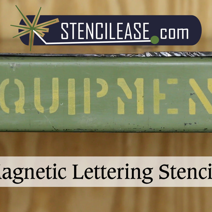 Labeling Metal Surfaces Using Stencil Ease Magnetic Lettering Stencils