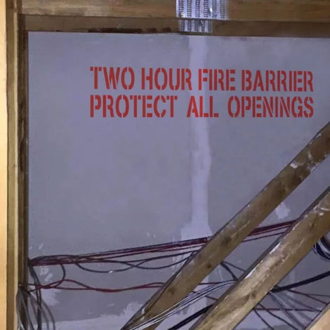 Fire Barrier Stencils