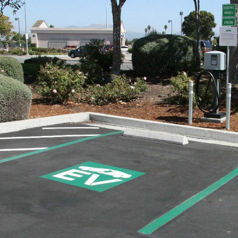 Electric Vehicle Signs Stencils