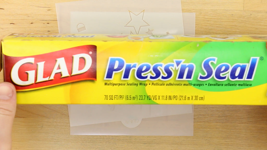 Use Glad Press'n Seal to mask off more intricate designs