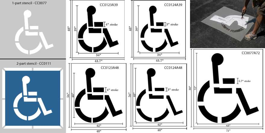 handicap parking sign template - handicap parking stencil handicap stencils wheelchair