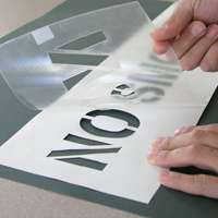 adhesive backed stencil