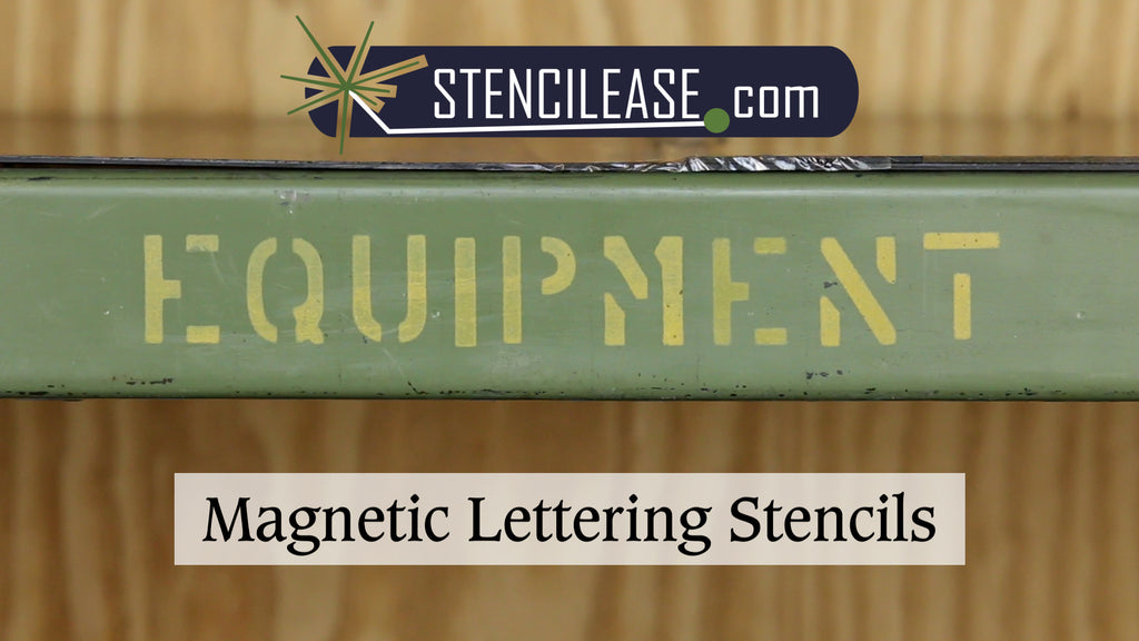Magnetic Lettering Stencils