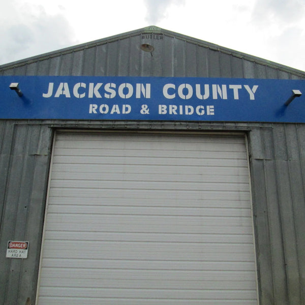 Jackson County Road and Bridge Sign Custom Stencil