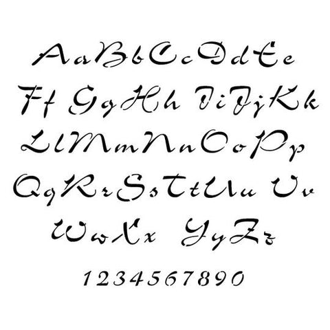 Airfoil Script Letter and Number Stencil Sets