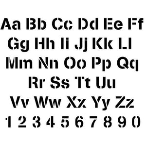Arial Letter and Number Stencil Sets