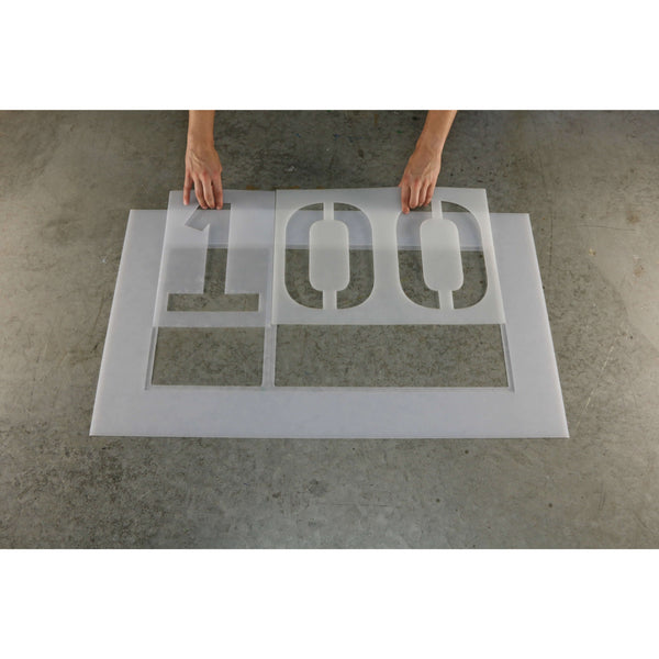 2 Digit Number Stencil Sets 00-99 with one 2 digit holder