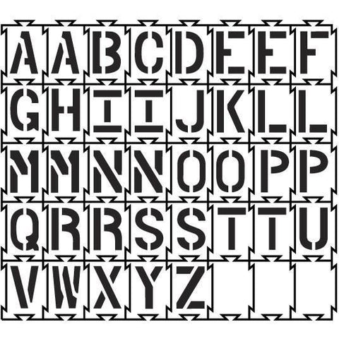 Quadra-Lock Interlocking Alphabet Stencil Set