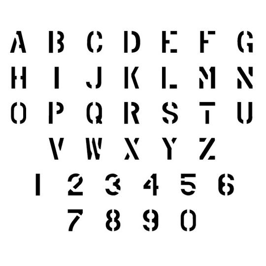 Stencils | Uppercase Alphabets | Military Lettering ...
