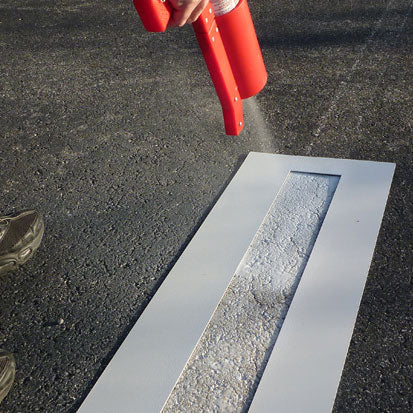 Spray Painting Parking Lines