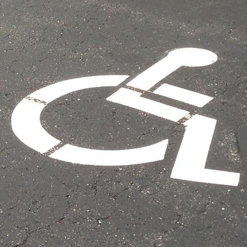 Handicap Sign Stencil