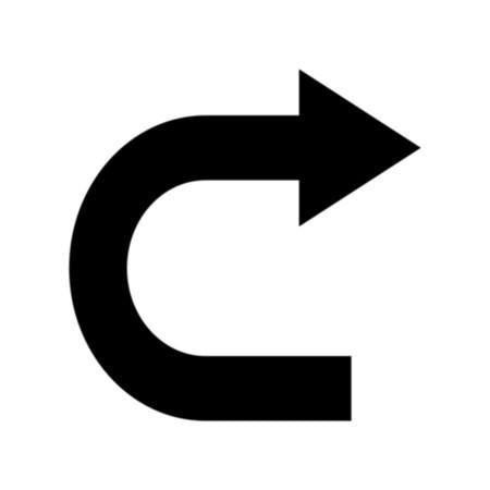 U-Turn Roadway Sign Symbol Stencil