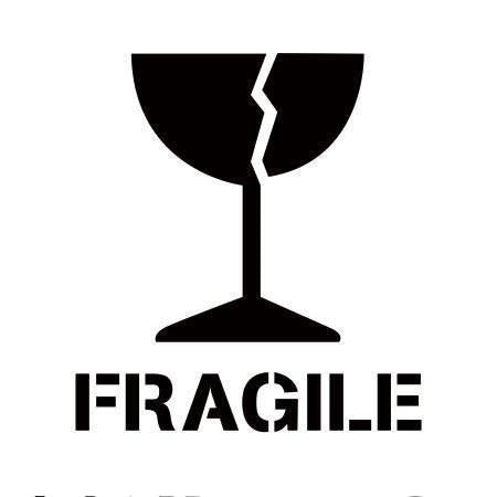 Fragile Freight Marking Stencils 4 different styles