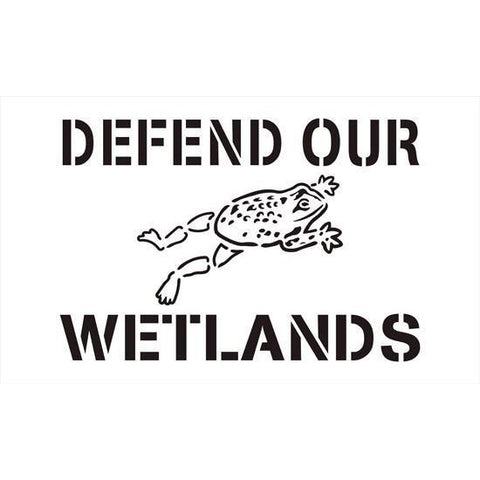 Defend our Wetlands Storm Drain Stencil