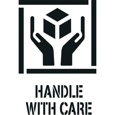 Handle with Care Freight Marking Stencil