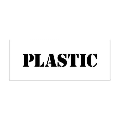 Plastic Recycle Stencil