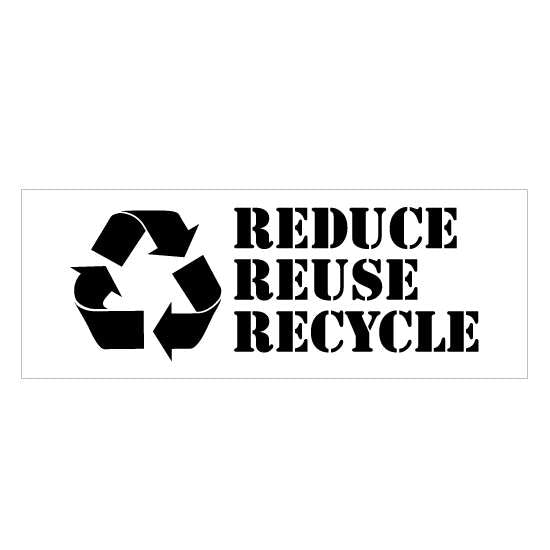 Reduce, Reuse, Recycle Stencil