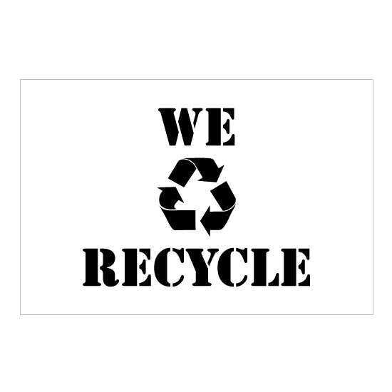We Recycle Stencil