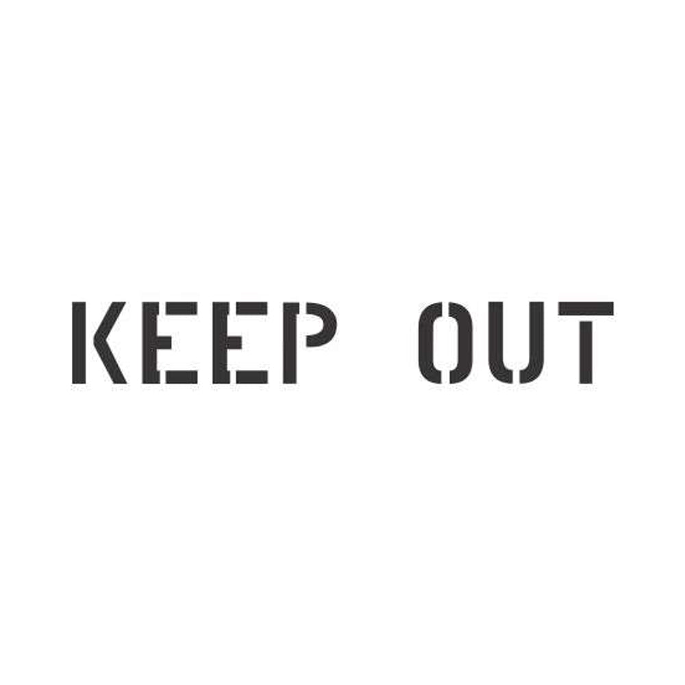 Keep Out Sign Stencil