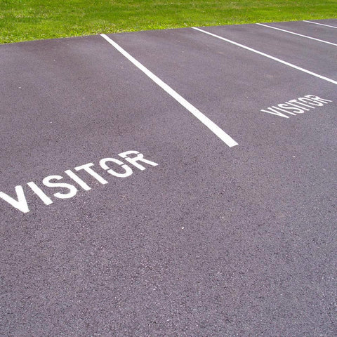 Visitor Parking Lot Marking Stencil