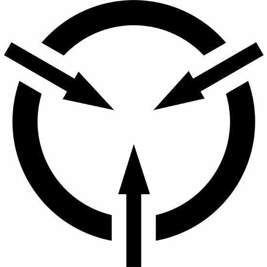 Electrostatic Sensitive Symbol Stencil