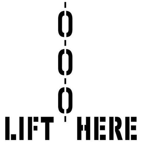 Lift Here Shipping Stencil