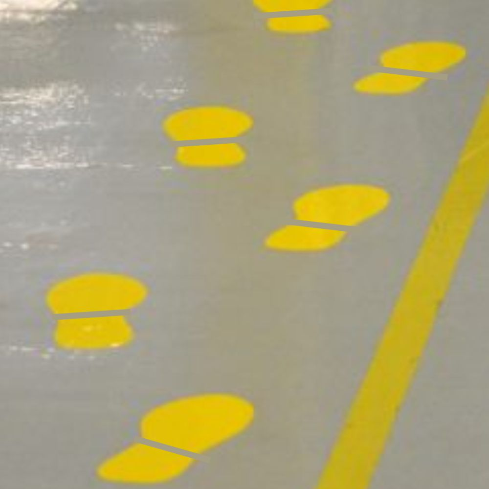 Walking Footprint Pedestrian Walkway Warehouse Safety Stencil