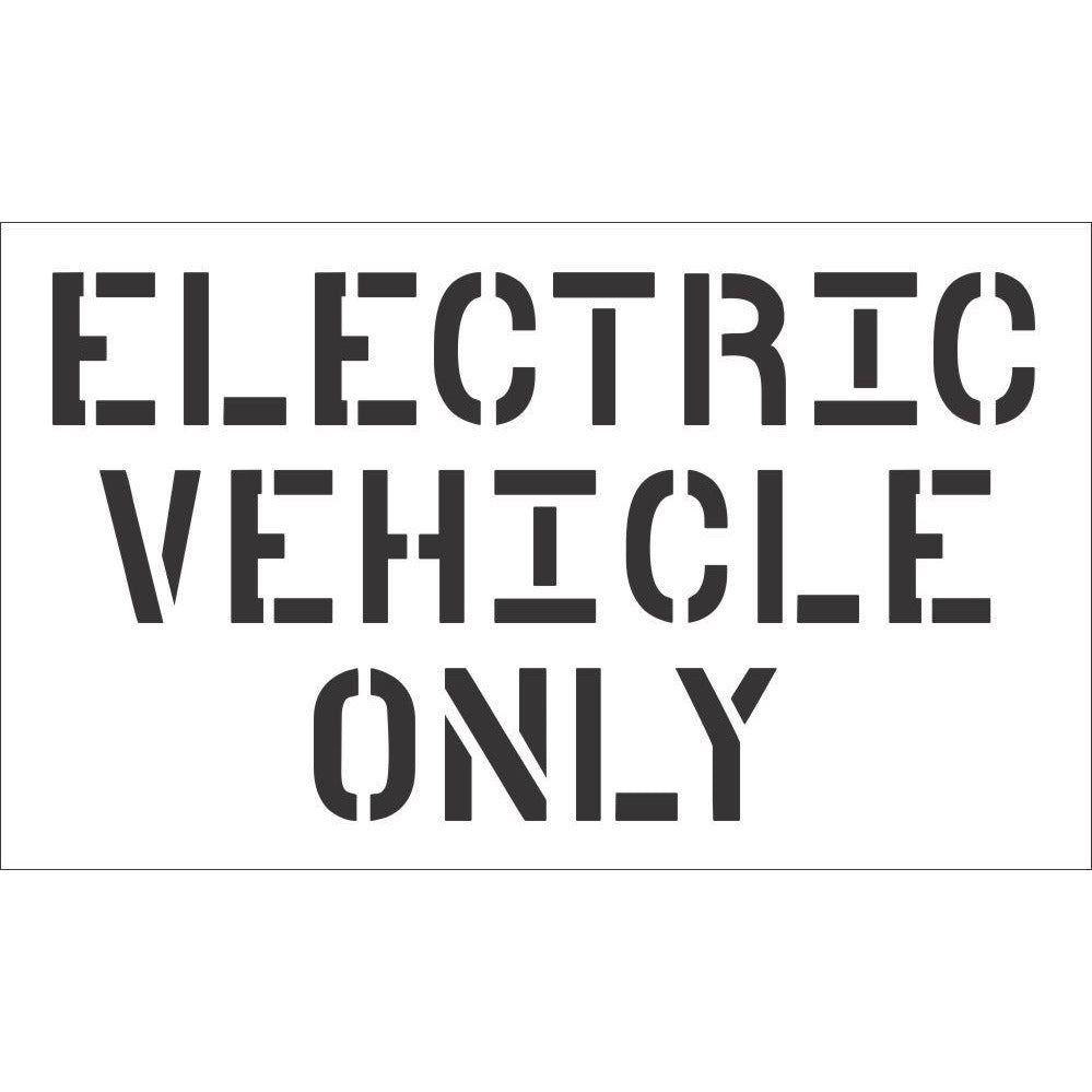 Electric Vehicle Only  Stencil