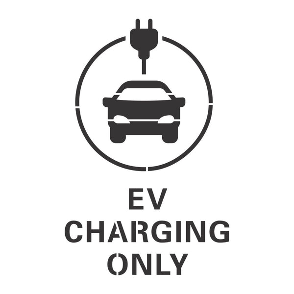 EV Charging Only Stencil