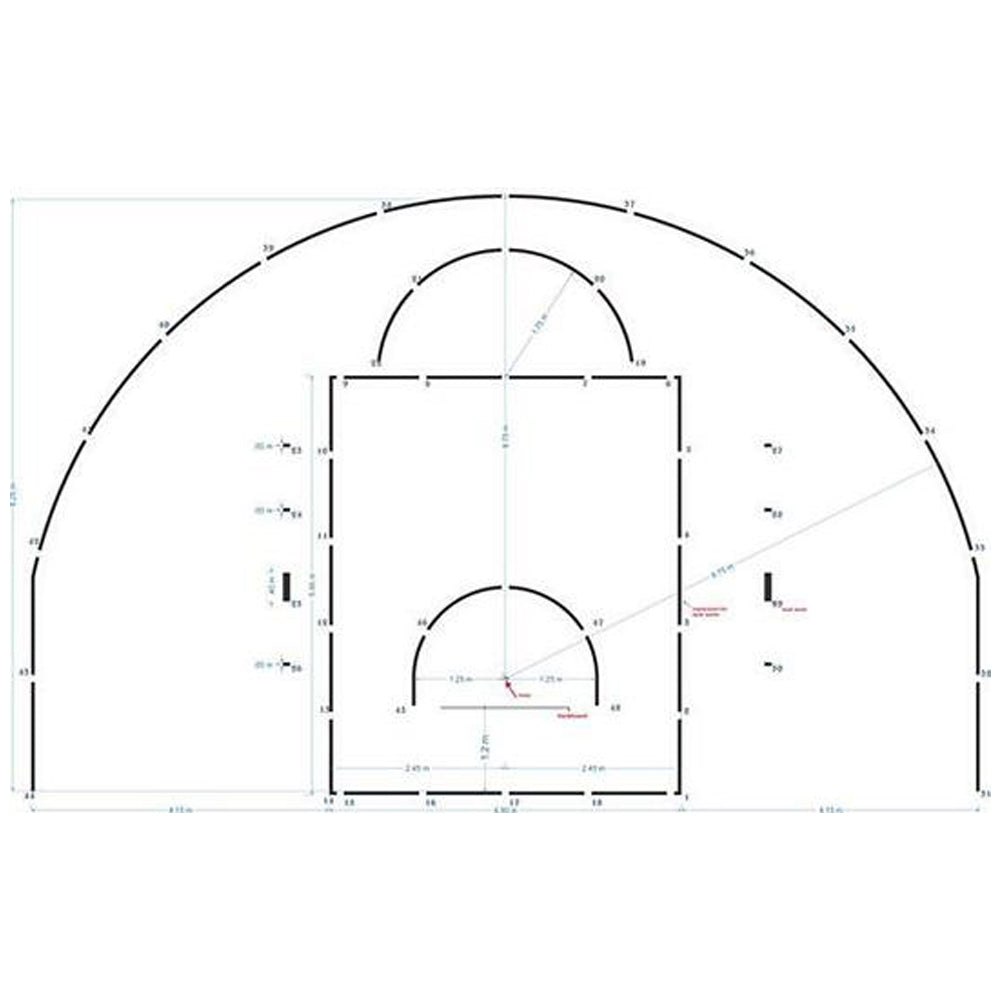 FIBA European Basketball Court Stencil