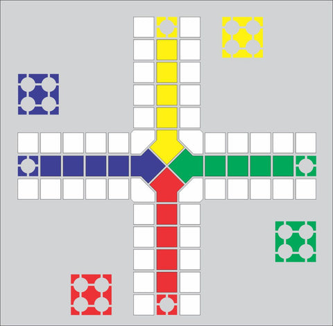 Playground game stencil Ludo stencil ease