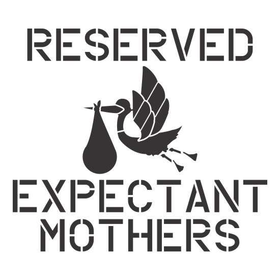 Expectant Mother Parking Sign Stencil