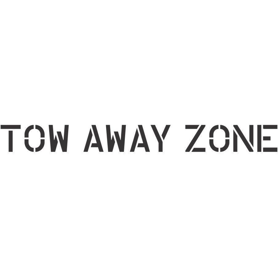 Tow Away Zone Parking Lot Stencil