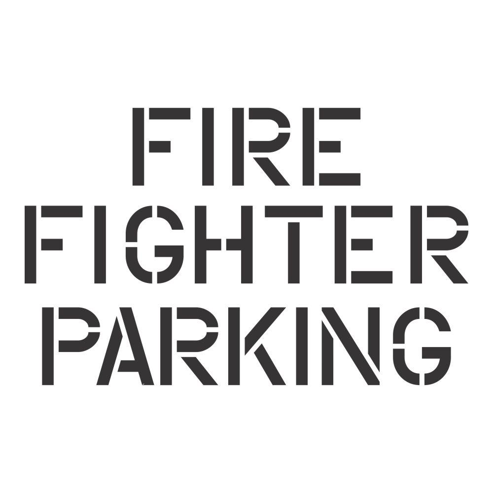 Fire Fighter Parking Stencil