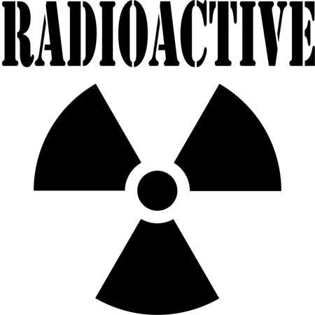 Radiation Safety Symbol Stencil