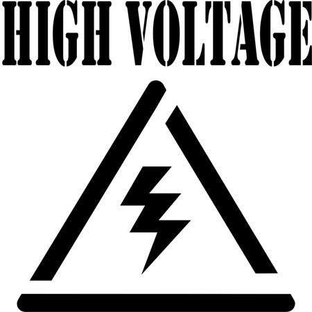 High Voltage Safety Symbol Stencil