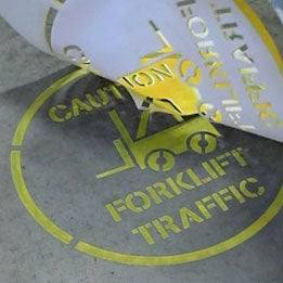 Forklift Traffic Stencil