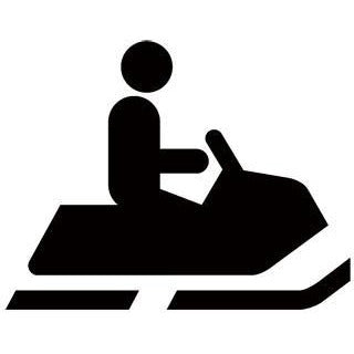 Snowmobiling Recreational Guide Symbols