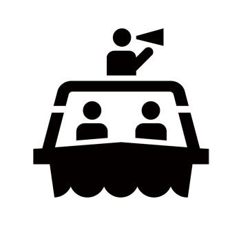 Tour Boat Recreational Guide Symbol Stencil