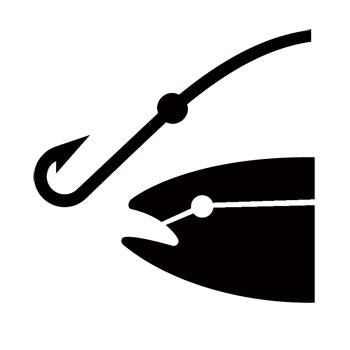 Fishing Area Recreational Guide Symbol Stencil