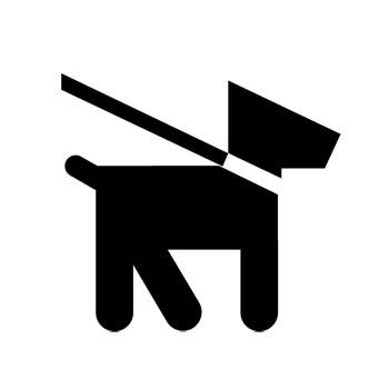 Pets on Leash Recreational Guide Symbols
