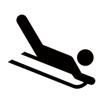 Sledding Recreational Guide Symbols